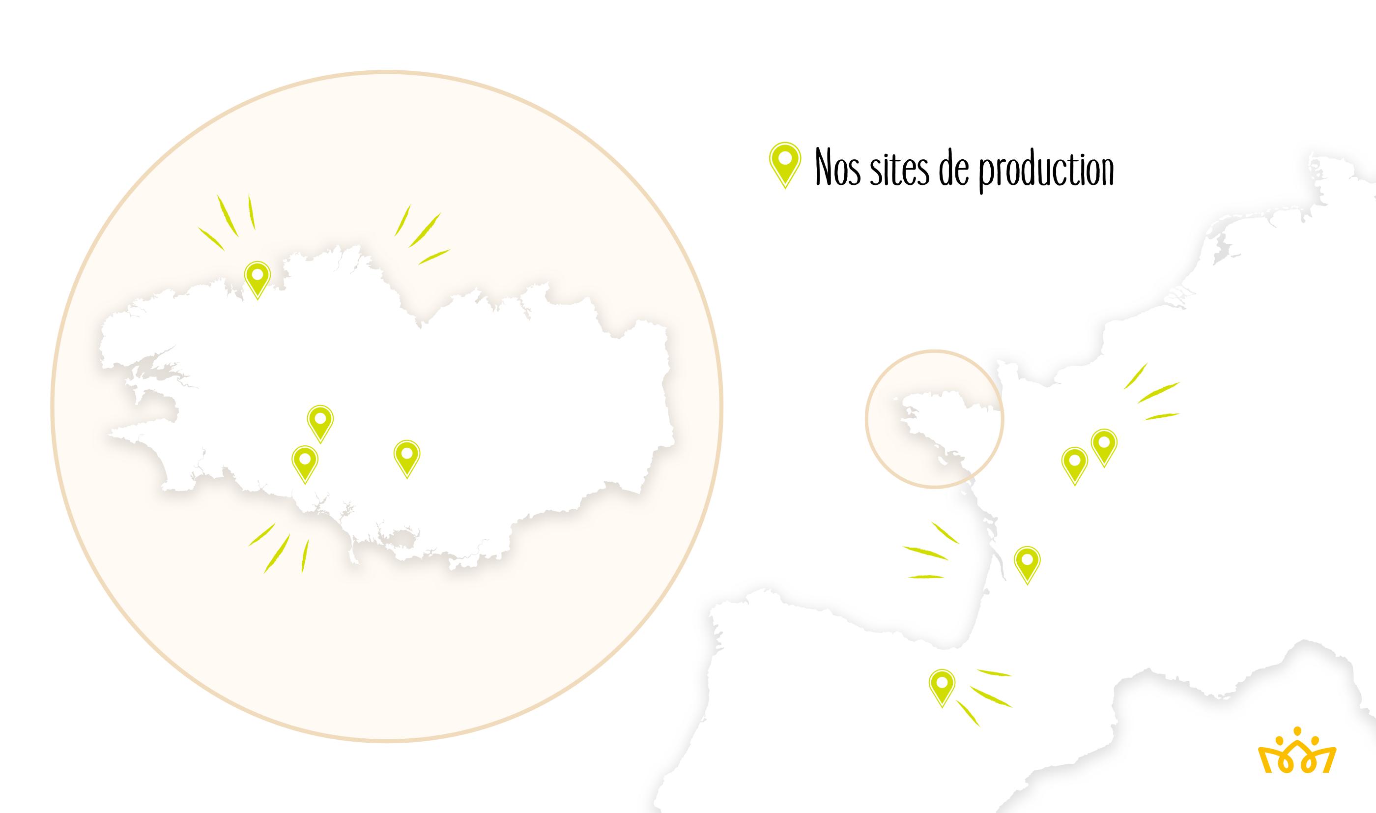 Nos sites de production